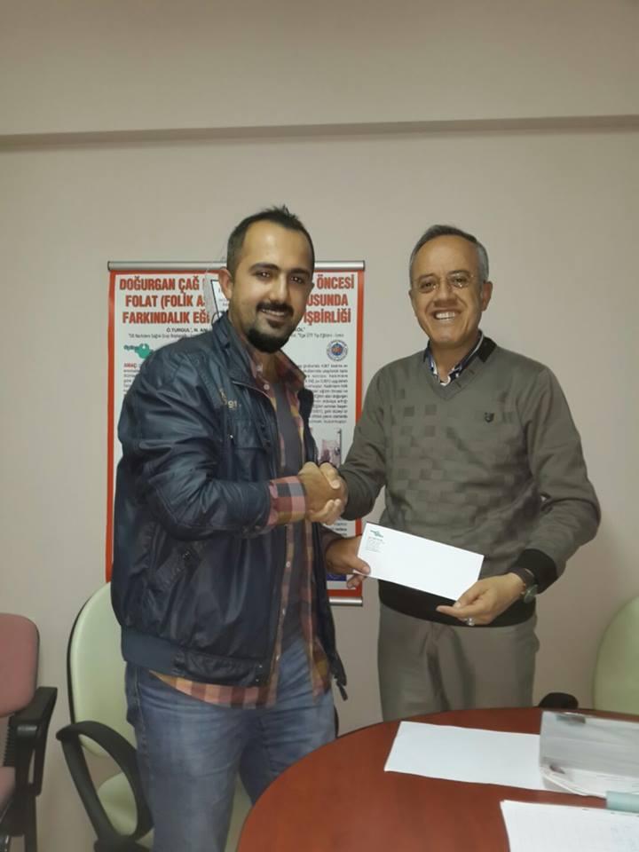 Web sitemizin sponsoru Şener KUL'a Teşekkür Mektubu Takdim Edildi