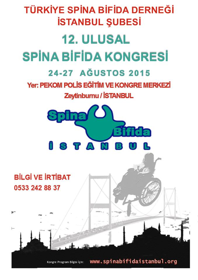 12.Ulusal Spina Bifida Kongresi – 24-27 Ağustos 2015